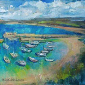 boats moored in the marina