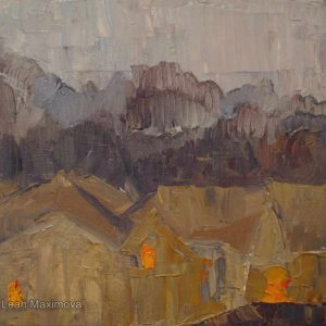 the painting of ochre-coloured houses
