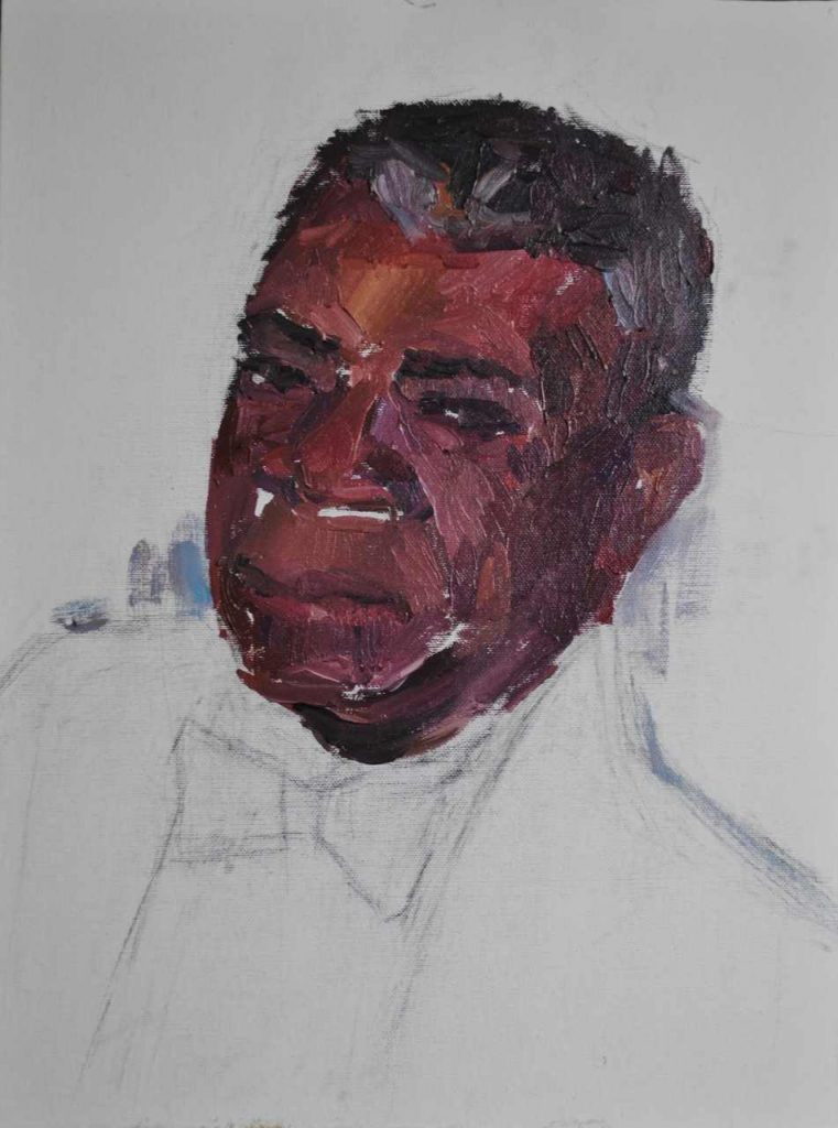 more detailed sketch of a black man
