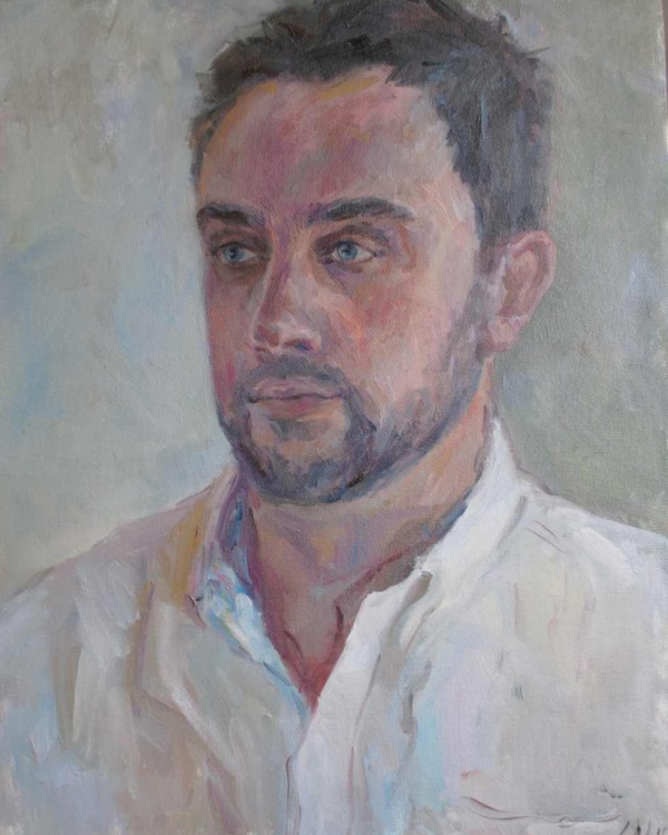Allan, oil on canvas board